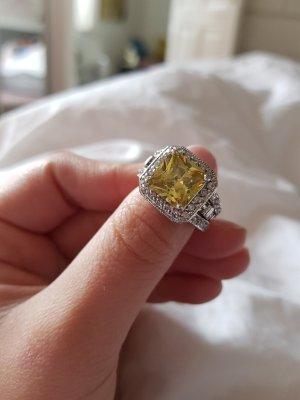 Anello d'argento argento-giallo pallido