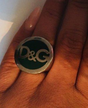 Dolce & Gabbana Statement ring zilver-bos Groen