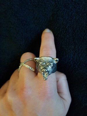 Statement ring zilver
