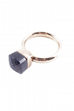 Statement ring goud-donkerblauw casual uitstraling