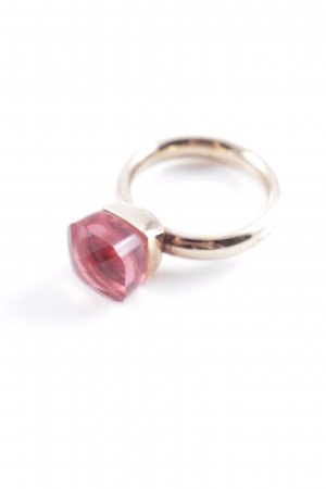 Statement ring goud-roze casual uitstraling