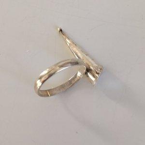 Statementring Silber Echtsilber Ring Vintage 80er Designer Silberring plastisch