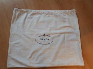 Prada Sac à main blanc-bleu foncé fibre textile
