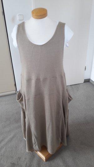 Vestido de tela de jersey marrón claro-marrón grisáceo Algodón