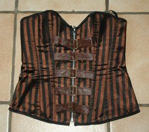 Steampunk Gothic Corsage braun schwarz Gr. M Kuroneko