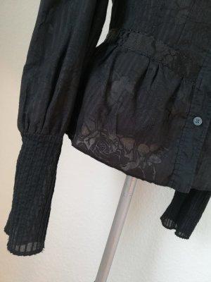 Steampunk gothic Langarm Bluse Viktorianisch Gr. M 38 40 Firetrap Baumwolle tailliert