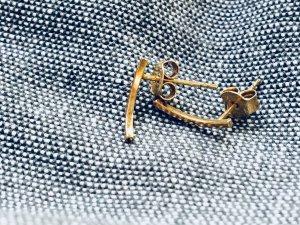 Stecker Ohrringe, vergoldet