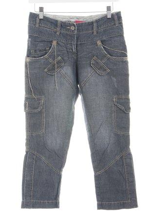 Stefanel 3/4 Jeans hellgrau Farbverlauf Casual-Look