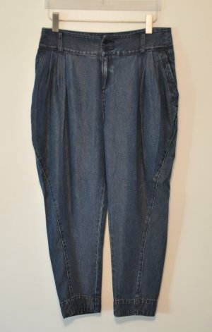 Stefanel 7/8 Hose Jeans Boyfriend tiefer Schritt Viskose Gr. 36 WIE NEU