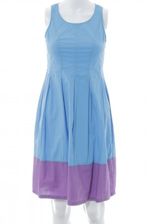 Stefanel A-Linien Kleid kornblumenblau-violett Casual-Look