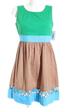 Stefanel A-Linien Kleid mehrfarbig Casual-Look