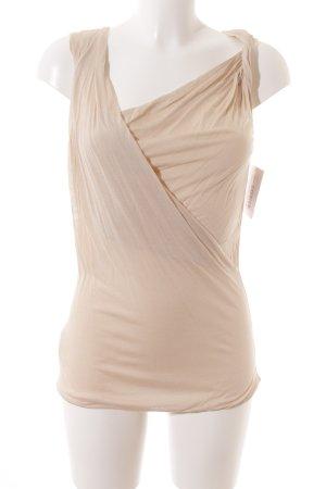 Stefanel ärmellose Bluse beige Elegant
