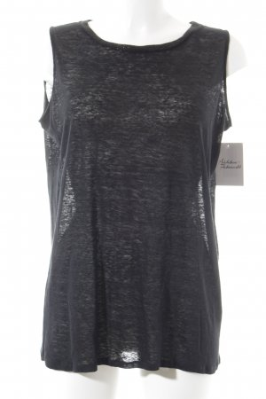 Stefanel ärmellose Bluse schwarz Casual-Look