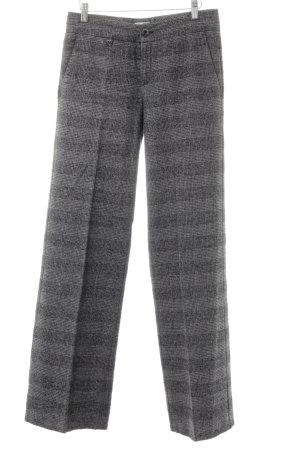 Stefanel Pantalon de costume gris-noir motif à carreaux style classique