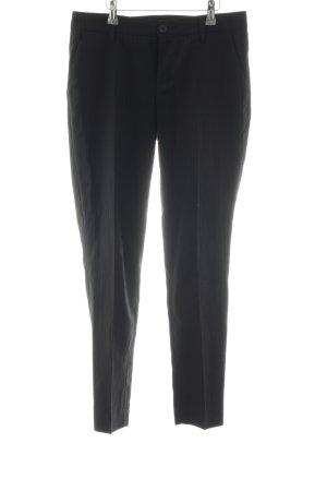 Stefanel Pantalon de costume noir motif rayé style d'affaires