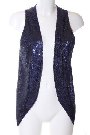 Stefanel Gilet de costume bleu style extravagant