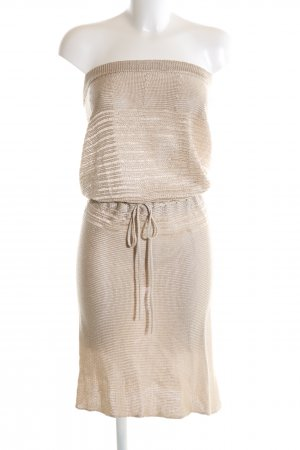 Stefanel Bandeau Dress cream casual look