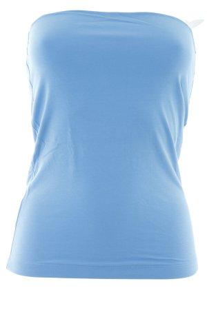 Stefanel Haut bandeau bleu azur style décontracté