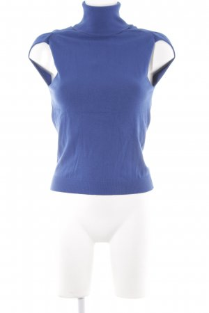 Stefanel Basic Top blau Casual-Look