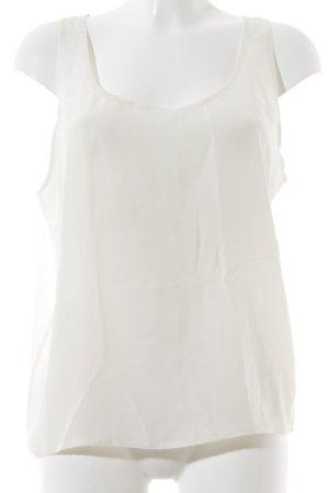 Stefanel Basic Top creme minimalistischer Stil