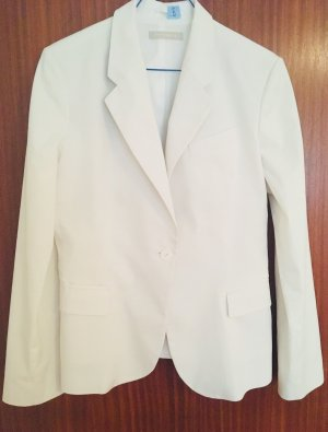 Stefanel Unisex Blazer white cotton