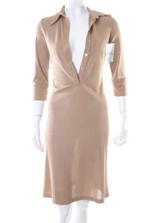 Stefanel Blusenkleid camel klassischer Stil