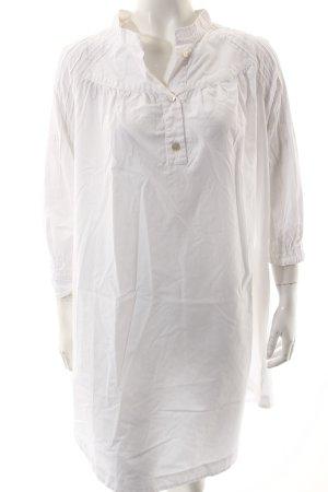 Stefanel Blusenkleid weiß schlichter Stil