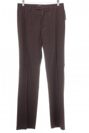 Stefanel Pleated Trousers grey lilac pinstripe business style