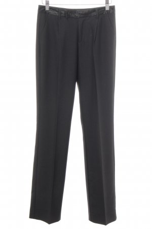 Stefanel Bundfaltenhose schwarz grafisches Muster Business-Look