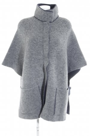 Stefanel Cape grey-dark blue fluffy