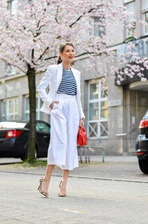 Stefanel Culottes weiß Elegant