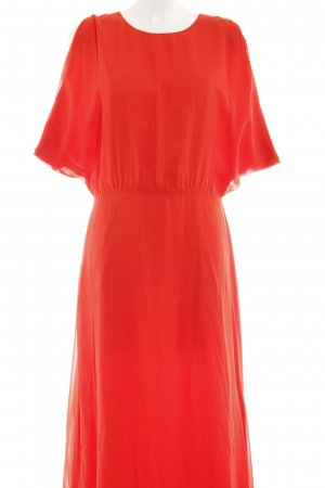 Stefanel Chiffon jurk lichtrood zakelijke stijl