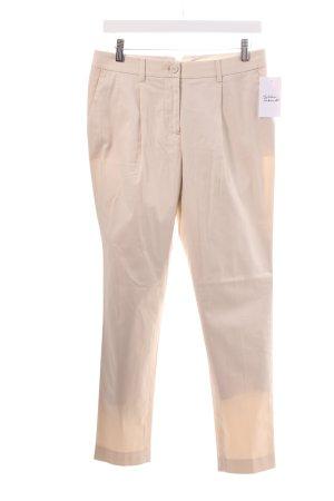 Stefanel Pantalon chinos crème style classique