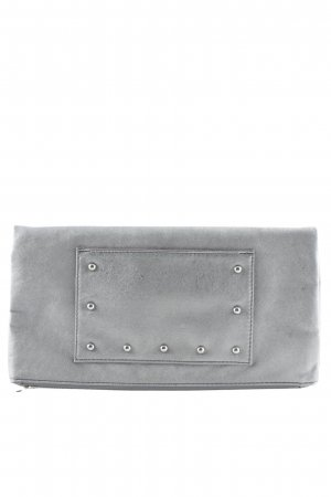 Stefanel College Bag silver-colored elegant