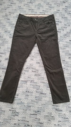 Stefanel Pantalone di velluto a coste antracite-grigio-verde