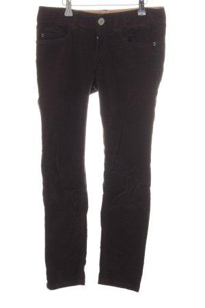 Stefanel Pantalone di velluto a coste marrone stile casual