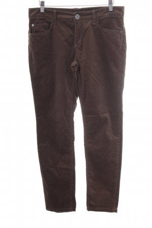Stefanel Pantalón de pana marrón claro look casual