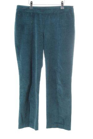 Stefanel Pantalon en velours côtelé bleu cadet style décontracté