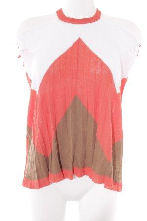 Stefanel T-shirt court motif rayé style décontracté
