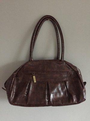 Stefanel Carry Bag black brown imitation leather
