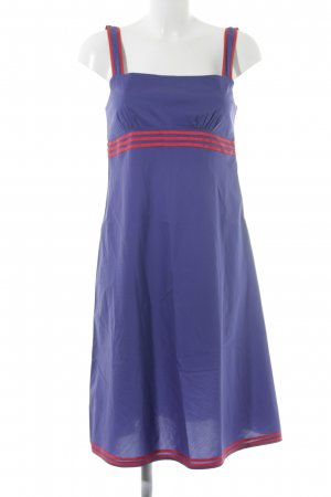 Stefanel Empirekleid blau-rot Casual-Look
