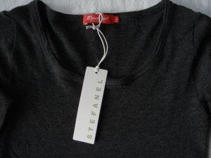 Stefanel, Essentials, Shirt mit langem Arm, Gr. M, grau, Schurwolle