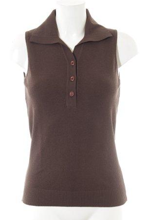 Stefanel Cardigan en maille fine brun noir style anglais