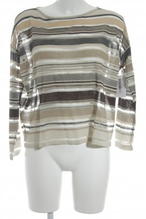 Stefanel Fine Knitted Cardigan striped pattern casual look