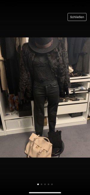 Stefanel Giacca di pelliccia marrone scuro