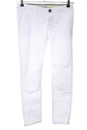 Stefanel Pantalon cinq poches blanc style décontracté