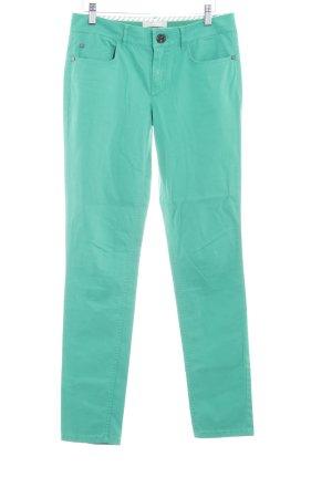 Stefanel Pantalón de cinco bolsillos verde look casual