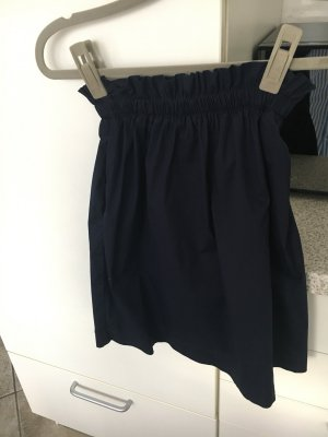 Stefanel Falda de tubo azul oscuro
