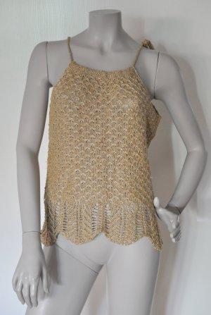 Stefanel Top de punto color oro-beige tejido mezclado