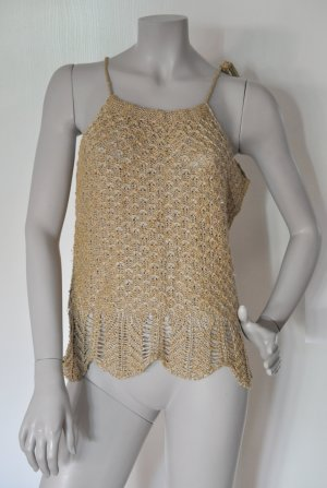 Stefanel Knitted Top gold-colored-beige
